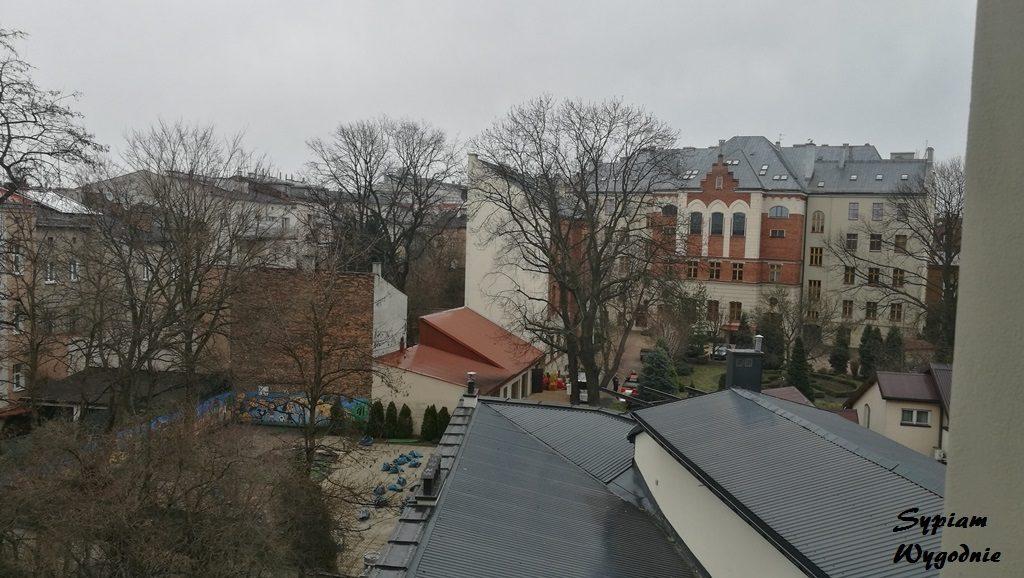 Hotel Lavender Kraków - widok z okna