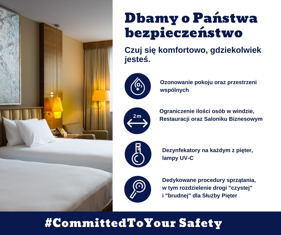 DoubleTree by Hilton Kraków bezpieczeństwo
