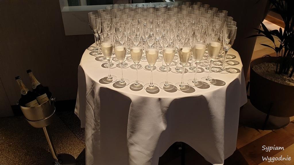 szampan na śniadaniu w Hilton Świnoujście